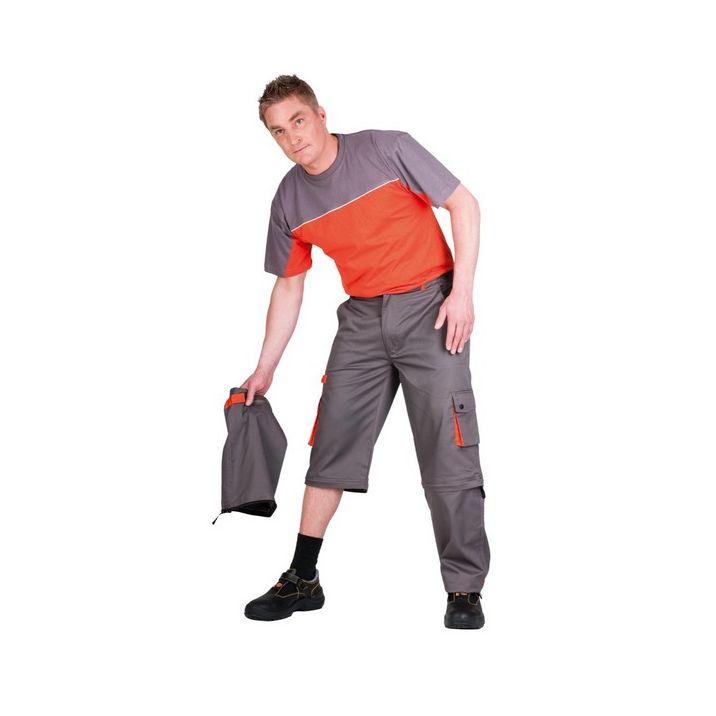 A Desman munkavédelmi nadrág rendkívül leleményes megoldással szolgál a változékony időjárás kihívásaira, a hosszúnadrág térnadrággá varázsolható egyetlen mozdulattal.