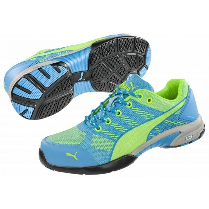 Puma munkavédelmi cipő Blaze Knit S1P HRO kék