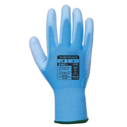 A kék színű Portwest A120 PU kesztyű XS-től XXL-esig bármilyen méretben kapható.