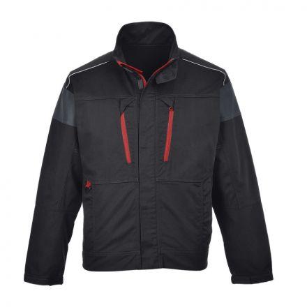 A fekete színű Portwest TX60-as kabát tökéletesen megfelel a kinti munkavégzéshez, hiszen jól bírja a gyűrődést, mégis könnyű.